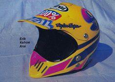 1988 Troy Lee Designs painted Arai of Erik Kehoe