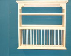 Simply Chic wood crown plate dish rack shelf cabinet by holliwalt