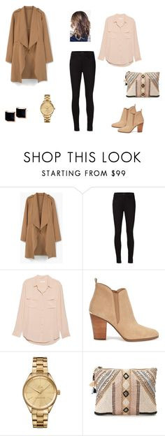 Untitled #17 by d-divaa on Polyvore featuring Equipment, MANGO, J Brand, Michael Kors, BLANK, Lacoste and Kattri
