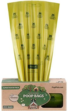 Pogis Poop Bags  500 Unscented Bags for Pantries  Large EarthFriendly LeakProof Pet Waste Bags Single Large Roll -- Learn more by visiting the image link. This is an Amazon Affiliate links.