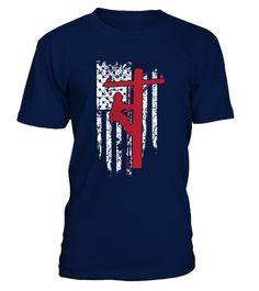# Lineman Shirts - American Flag Lineman .  Lineman Shirts - American Flag Lineman