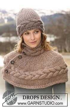 Shoulder wrap with cables - Free pattern