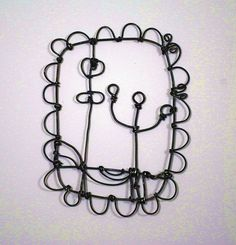 """Barbara Gilhooly  wire drawing  annealed steel wire  5"""" x 3"""" (give or take)  (c) 2012  wire-botanical-1 by gilhooly studio, via Flickr"""