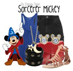 """Sorcerer Mickey"" by disney-teen ❤ liked on Polyvore"
