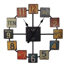 Metal Designed Wall Clock Vintage Style Free Shipping New #benzara