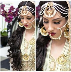 solah-shringar:  Mughal inspired bride by Fatemah Ali makeup and jewellery by Jewels n Gems