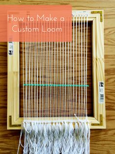 Basics: How to Make a Custom Loom - This is great; a DIY project with which you can make other DIY projects. Diy Projects To Try, Crafts To Do, Yarn Crafts, Sewing Crafts, Craft Projects, Diy Crafts, Loom Weaving, Tapestry Weaving, Weaving Projects