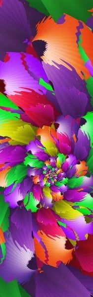 Love purple, love green, yellow, orange, yellow & red...