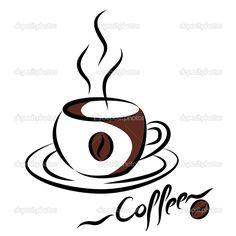 dibujos de tazas de cafe - Buscar con Google