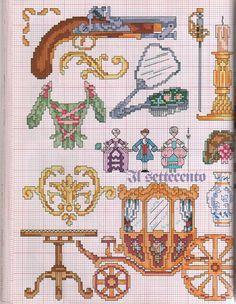 Victorian items cross stitch