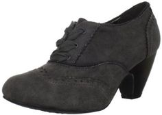 "Not Rated Women's Editor Oxford - Grey - synthetic upper with manmade sole, heel 2.5"" $36.41"