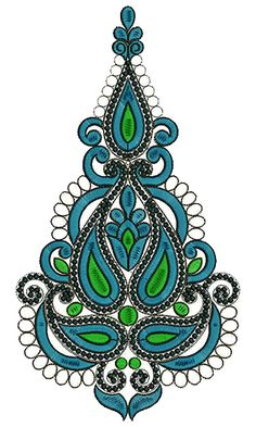 9399 Anarkali Embroidery Design