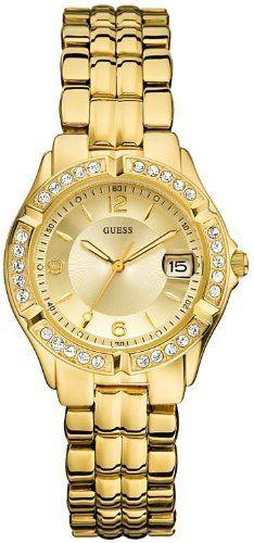 GUESS Women's U85110L1 Dazzling Sporty Mid-Size Gold-Tone Watch GUESS. $80.75. Waterproof. 10 year warranty. Gold-tone dial. Women's trends. Steel bracelet