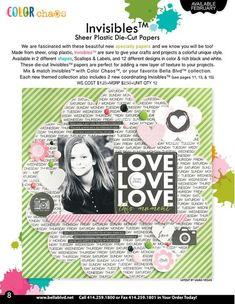 #BellaBlvd Invisibles Sheer Plastic Die-Cut Papers #cha #scrapbook