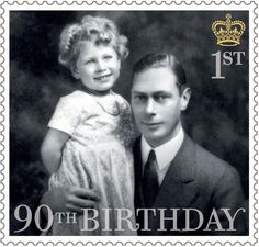 Pin for Later: And George Makes 4: The Queen and Her Heirs Pose For a New Set of British Stamps The Queen With Her Father