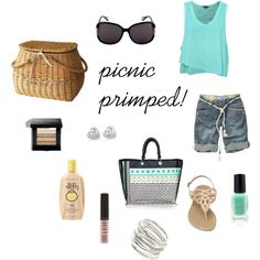 Primped for a Picnic, created by makeupobsessedmom on Polyvore