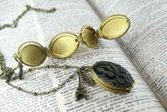Vintage Quad Locket covered in lace