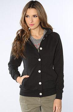 Makia Sweatshirt Button Up Hooded Raglan Sweatshirt in Black Fancy Dress Online, Prince Charming Costume, Urban Fashion Trends, Halloween Fancy Dress, Urban Chic, Adult Costumes, Streetwear Fashion, Dress Me Up, Black Hoodie