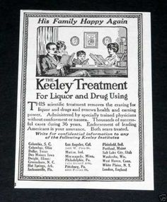 In case you are addicted, try this method. haha  1910 ad.