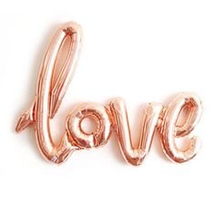 FREE SHIPPING rose gold LOVE air fill jumbo mylar balloon wedding engagement bridal shower calligraphy script - Air Fill balloon