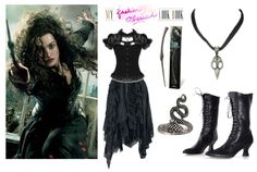 Bellatrix Lestrange Inspired DIY Look #harrypotter #fashion #bellatrix