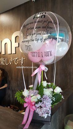 Balloon Flowers, Balloon Bouquet, Paper Flowers, Balloon Centerpieces, Balloon Decorations, Flower Decorations, Clear Balloons, Balloons And More, Balloon Shop
