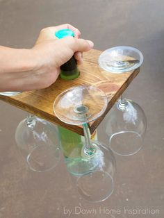 DIY Wine Bottle and Glasses