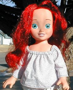 Pattern Free ! A Peasant Blouse for ANY Doll !