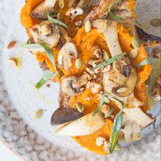 Alex's Pureed Pumpkin and Wild Mushrooms on Sourdough