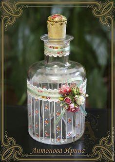 """Купить Флакон для духов-""""Весна"""" - разноцветный, для духов, для шампуня, для ванной комнаты, для соли, флакон, флакончик"""