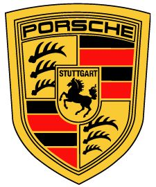 Porsche logo - needs to be a good size (11x14 at least) to capture the detail and the 2 black border lines