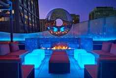 The dec Rooftop Lounge + Bar at the Ritz Carlton in Chicago, IL