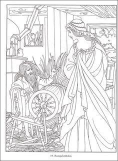 IColor Fairytale Classics Rumplestilskin 586x600 Fairy Tale IllustrationsColour BookColoring BooksAdult