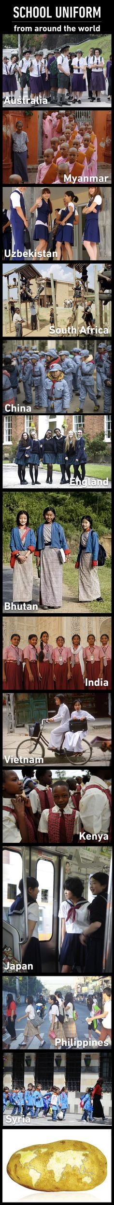I've never come across any school uniform like this. Haven't you?