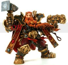 World of Warcraft DC Unlimited Series 6 Action Figure Magni Bronzebeard [Dwarven King]