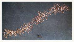 Street art made of pennies, Amsterdam, Stefan Sagmeister. Stefan Sagmeister, Land Art, Public Art, Graphic Design Illustration, Installation Art, A Team, Cool Art, Street Art, Art Pieces