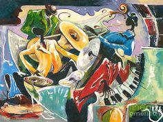 Jazz No. 3 Fine Art Print - Elisabeta Hermann