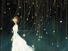 이 밤 저 별들을 보며  그대는 무엇을 그리고 있을까   우리가 사랑한 추억 그 어딘가를 걷고 있을까 그 아름다운 비밀들 사이에 잠시 잠들어 있진 않을까 지난 날 손 모아 기도했던 별들과 속삭이며 어떤 미소를 하고 있을까   내가 이처럼 그리워하듯 그도 가끔은 그러할까 언젠가 별을 품고 내려와 내 앞에 꽃이 될 거라면 난 웃을 수 있을까 아님 울 수조차 없을까   별의 신비함을 빌려 별들의 영원함을 얻어 나의 마음을 연습한들 난 그대 앞에 무슨 말을 할 수 있을까  By 현현(endmion1)