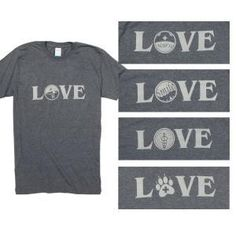 "Medical-Themed LOVE T-shirts You wear your heart on your sleeve and this shirt is proof! Professional emblem is screen printed with ""LOVE"" in Gray on a Dark Heather Gray unisex T-shirt made of ring spun cotton. Sizes Small, Medium, Large, X-Large, XX-Large."