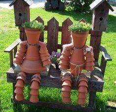 Clay pot people.... animals too!