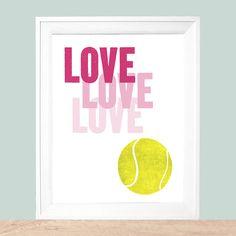 Love Tennis Art Print
