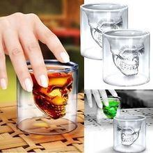 """New Arrival """" Crystal Skull cabeça """" projeto partido e Bar copo de vidro beber Ware2014 grátis frete(China (Mainland))"""