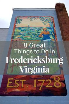 Rich history combines with modern shopping and dining to make Fredericksburg Virginia a fun and relaxing day trip just an hour's drive from Washington DC.