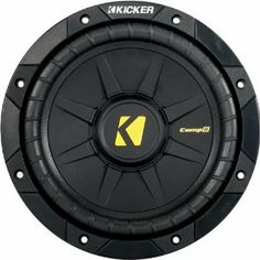 """Kicker 40CWD82 8"""" CompD Car Subwoofer by Kicker. $79.95. Peak: 400 watts, RMS: 200 watts, Impedance: Dual 2 ohms, Dual Voice Coil, World-famous, hard-hitting bass performance, Renowned KICKER power and durability, Quad Venting, Rip-resistant"""