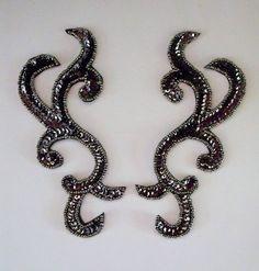 Dark Metallic Pewter sequin and bead pair- Sequin Appliques, Pewter, Metallic, Take That, Sequins, Pairs, Beads, Brown, Amazing