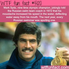 Mark Spitz and his moustache
