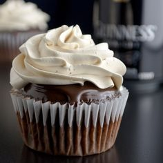 Guinness Chocolate Cupcakes with Jameson Ganache and Bailey's Frosting