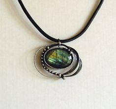 Gemstone  Labradorite necklace, Labradorit cabochon,handmade pendant