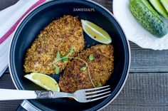 Walnut crusted fish with parmezan