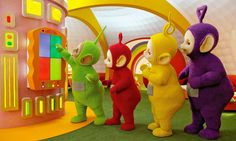 """Teletubbies- """"the anticipation..."""" & """"its all about love and wibbly wobbly bottoms"""""""